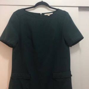 LOFT green shift dress (size 12)
